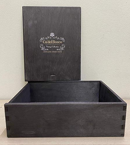 Caja de madera vacía Ca' Del Bosco Franciacorta Dosage Zero Noir Vintage Collection de 3 botellas