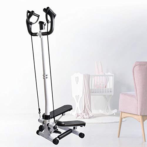 Grist CC Mini Stepper De Fitness Ajustable, Máquina De Ejercicio De Fitness Plegable, Adecuado para Oficina De Gimnasio En Casa con Manillar Y Pantalla LCD