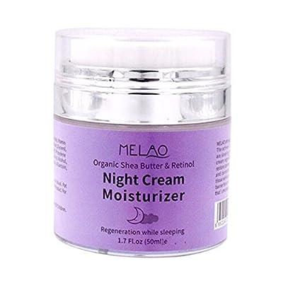 MELAO Organic Retinol Moisturizer Nourishing Night Cream Hyaluronic Anti-wrinkle Skin Care 50g