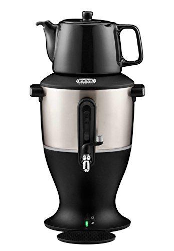 Mulex 290086 Tee Samowar 3 Liter, schwarz