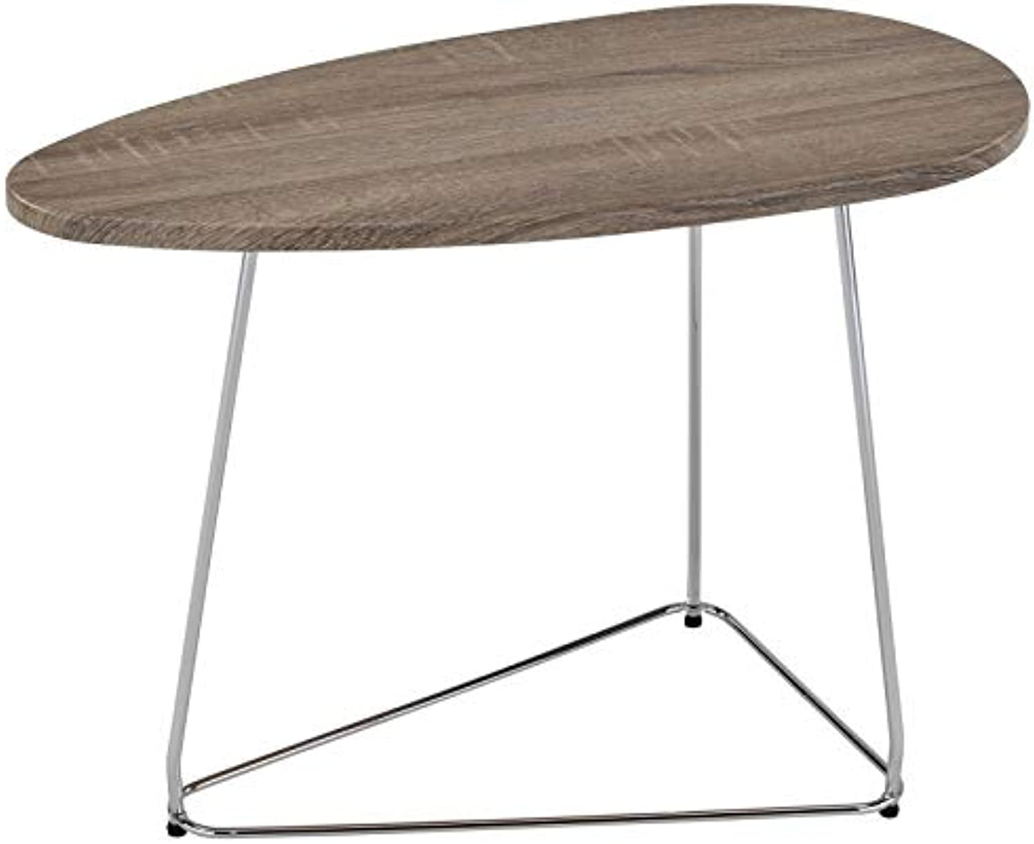 Jama Contemporary Wood & Metal Accent Table in Driftwood