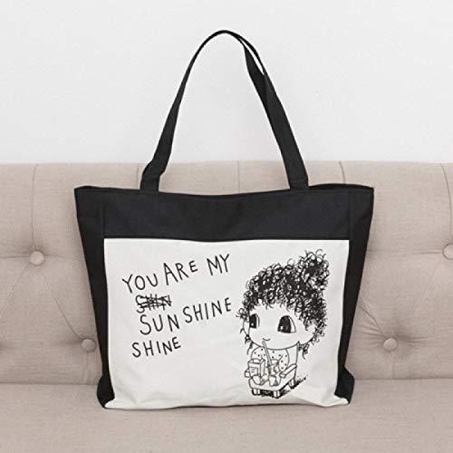 GZXYYY Nuova Shopping Bag di Tela Casual con Tote Bag Verde Borsa Portatile City Buy Borsa da Viaggio Spalla Borsa da Viaggio Ragazza Sole