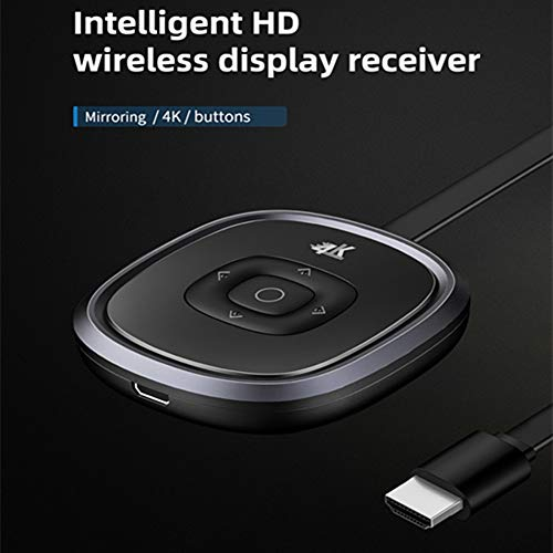 4K Miracast HDMI Dongle, 5G/2.4G WiFi Display Dongle Streaming Video Receiver, Support Miracast DLNA Airplay for iOS / Windows / Android to TV / Projector / Display Support DLNA Miracast Airplay