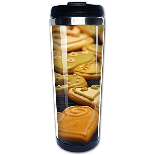 JULOE 400ML Kaffeetasse Becher Edelstahl Liner, Kekse Matcha Choco Mode Reisebecher Wasserflaschen Tragbare Thermoskanne