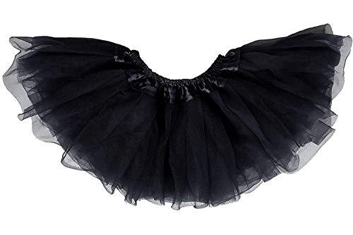 Dancina Falda Tutú Clásica de Ballet para Bebés 6-24 Meses Negro