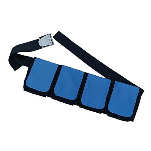 T TOOYFUL Tauchgürtel mit Tauchen Tauchgurt Taschenbleigurt Tauchen Gürtel Gurt - 4 Taschen