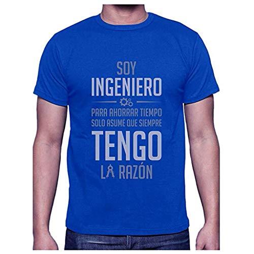 Reooly Camiseta de Manga Corta con Estampado Casual y Estampado The Walking Dead para Hombre(I-Azul,S)