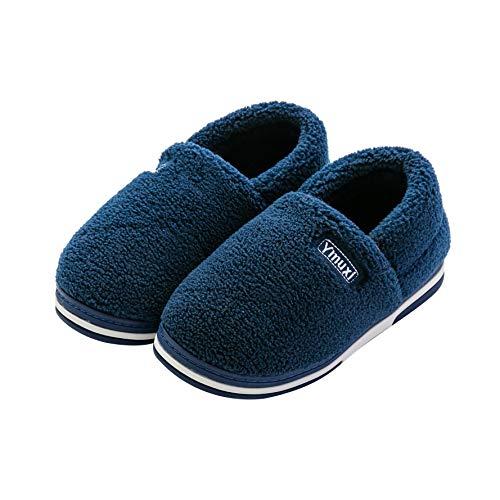 Hycomell Zapatillas de Estar por Casa de Mujer y Hombre Cerradas con Forro de Vellón Invierno Casa Zapatos Antideslizante Pantuflas Zapatos Cálidos Acogedores Lavable en la Lavadora