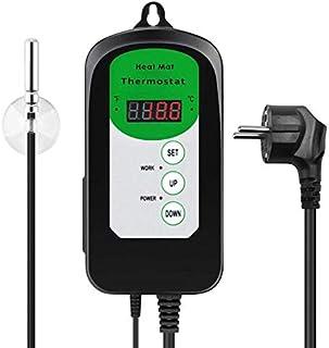 RIOGOO cyfrowy regulator termostatu do maty grzejnej do kiełkowania nasion, gadów i brwi 68-108 ℉