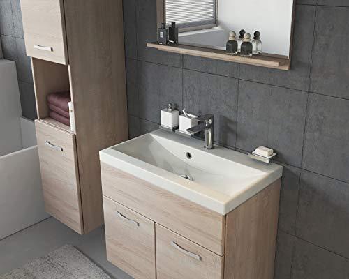 Badmöbel Set Montreal 60 cm Sonoma Eiche – Unterschrank Hochschrank Waschtisch Bild 3*