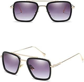 Fashion Avengers Tony Stark Flight 006 Style Sunglasses Men Square Aviation Brand Design Sun Glasses Oculos-XSQ