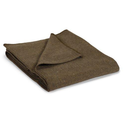 Stansport 1244 Wool Blend Camp Blanket, Olive Green