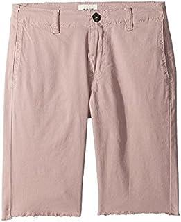 ハドソン Hudson Kids キッズ 男の子 ショーツ 半ズボン Faded Red Raw Hem Sateen Chino Shorts in Faded [並行輸入品]