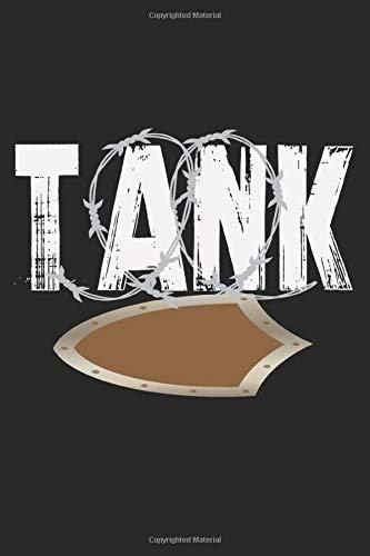 Tank: A5 Notizbuch, 120 Seiten liniert, Gaming Gamer Zocken Zocker Tank Wächter Schutz MMORPG Ritter Rüstung