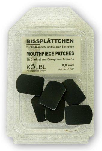 Kölbl Bissplatten 6er Pack Es-Klarinette / Sopran-Saxophon 0,8mm schwarz