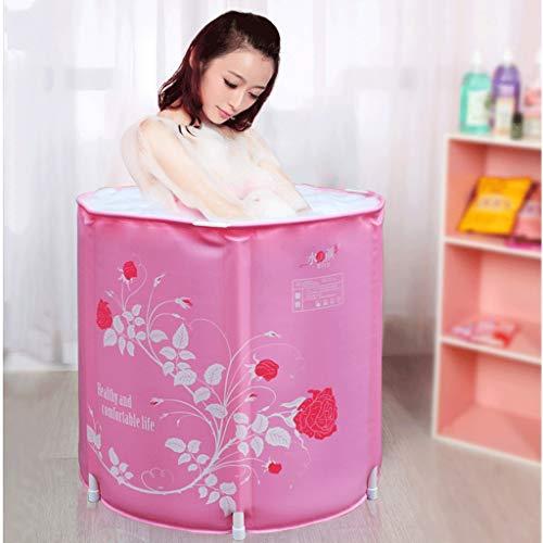 Chicti Draagbare opvouwbare badkuip, volwassenen, niet opblaasbaar, dubbele afvoer, bademmer, ingebouwd kussen, twee kleuren optioneel