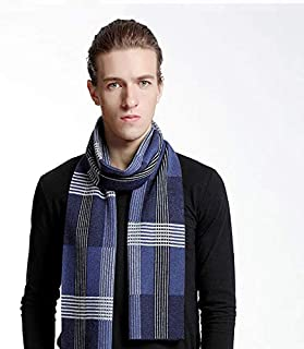 Men'S Winter Wool Business Plaid Scarf Christmas Infinity Wraps Shawl Scarves, Soft Cozy Warm, Match Any Coat, Suit, Outfi...
