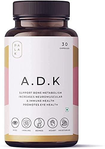 Krishna Palak Notes New A.D.K   ADK   Vitamin A, D3 & K2   Immunity Booster - Bone Strength - Eye Health   30/60 Capsules (30)