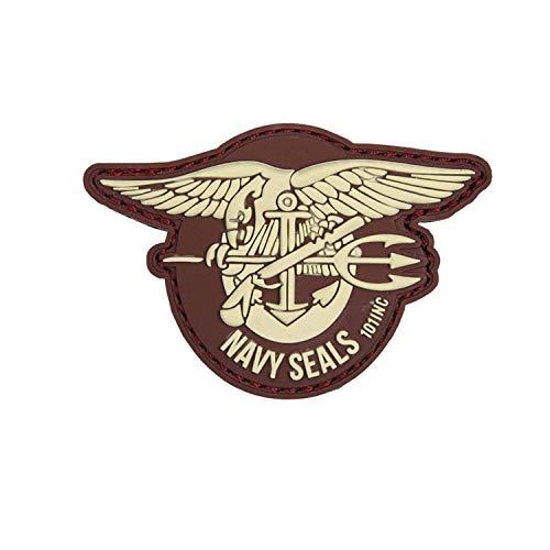 Van Os Emblem 3D PVC Navy Seals Klett Patch Abzeichen Aufnäher braun