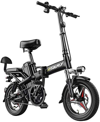 Bici electrica, 14 pulgadas de nieve eléctrico asiento de la bicicleta de montaña bicicleta plegable 350 con tracción trasera con 48V 25AH de litio de la batería y el disco de freno ( Size : 15AH )