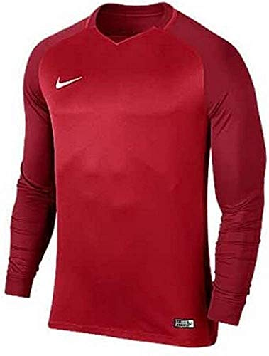 Nike Trophy III LS Maillot Homme University Red/Gym Red/Gym Red/Blanc FR : XL (Taille Fabricant : XL)