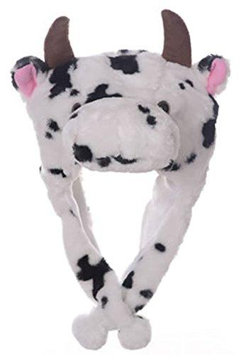 Animal Head Super Soft Plush Childrens Hat - Cow