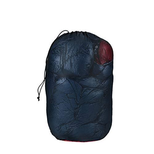 BESPORTBLE Nylonnetz Kordelzug Reisetasche Sack Schlafsack Kleidung Beutel für Golfball Flaschentopf Outdoor Camping Werkzeuge (Schwarz Rot)