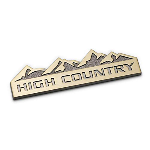 High Country Stemmi Emblemi Distintivo Adesivo Decalcomania per J-eep Wrangler JK Compass Grand Cherokee Patriot,Ottone