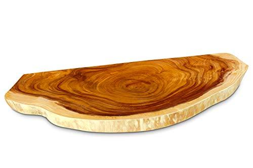 Kinaree Waschtisch Platte Akazie Massivholz - 100 bis 110cm Waschtischunterplatte aus massivem Holz im rustikalen Landhausstil für einen außergewöhnlichen Waschplatz im Badezimmer
