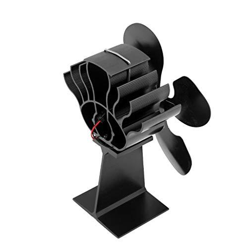 MagiDeal Ventilador de Estufa de Leña con Energía Térmica de 300f / M 4 para Chimenea de Quemador de Leña