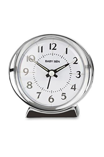 Traditional WestClox 1964 Baby Ben Classic Quartz Accuracy Battery Operated Alarm Clock