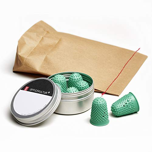 mine Officekultur Blattwender, Größe 3 (Ø 19 mm), 7 Stück, nachhaltig in schöner Aludose, für Büro und Haushalt
