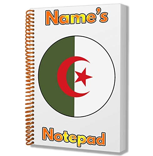 Gepersonaliseerd geschenk - Algerije Vlag A5 Kladblok/notitieboekje - Cadeau - Verjaardag - Kerstmis - Kachelvuller - Geheime Kerstman - ADD Elke naam