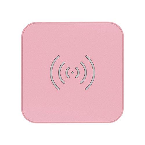 CHOETECH 7.5/10W Wireless Charger,Schnellladestation Induktions Ladegerät für iPhone SE/11/11 pro/11 Pro Max/XS MAX/XR/X/8,Galaxy S20/S20 Ultra/S10/Note 10/9/S9/S8,5W für Huawei P40 Pro (Rosa)