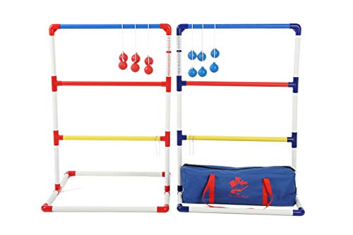 MR CHIPS Ladder Toss Game with Ladder Golf Bolo Balls - Free Bonus