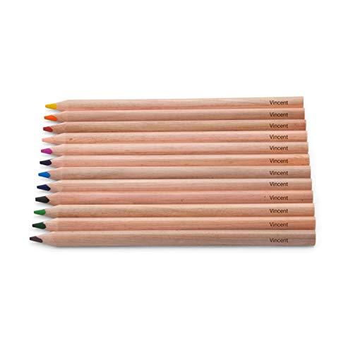 Pelikan Jumbo Holz Buntstifte - dreikant - Stifte mit Namen/individueller Gravur