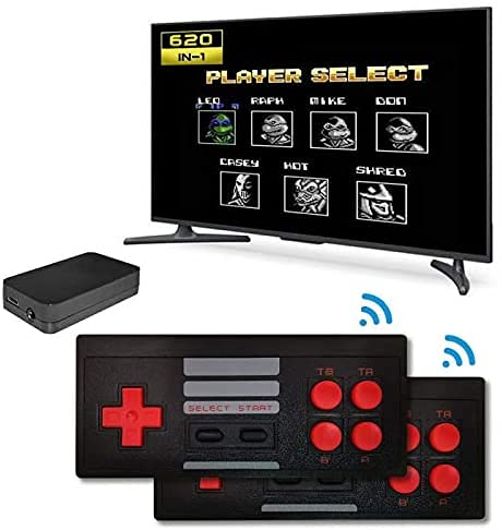 Wireless Video Game Set for tv gaming for 2 players with 620 Games Installed | Two Player Wireless Tv Led Lcd Video Gaming Console | Best Birthday Gift for Kids