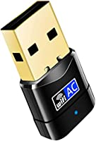 Mini USB WiFi Adapter - Portable Dual Band 2.4G/5G Mini Wi-fi AC Wireless Network Card Dongle with High Gain Antenna for...