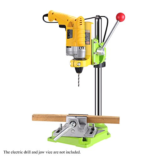Baugger DRILL STAND - High Preci-Sion Electric Power Drill Press Stand Table Rotary Tool Workstation Drill Workbench Repair Tools Clamp Work Station with 0-90 Degree Rotating Fixed Frame for Drilling