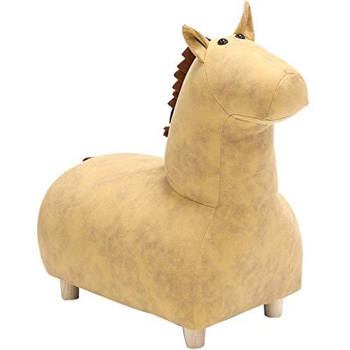 JSONA Puf otomano, Taburete de Descanso de Poni Lindo Creativo, otomano Animal Tridimensional en la Sala de Estar, Taburete pequeño para Cambiar Zapatos de Entrada (Color: Amarillo, tamaño: 60 * 5