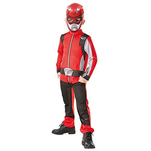 Generique - Power Rangers-Kinderkostüm für Fasching Beast Morpher rot 116/128 (7-8 Jahre)