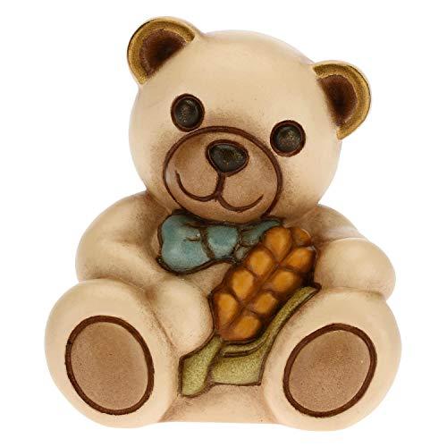 THUN - Bomboniera Teddy con Spiga - Bomboniera Bambino - Bomboniera Prima Comunione - Linea Bomboniere - Ceramica - 5,7 x 4,3 x 5,1 h cm
