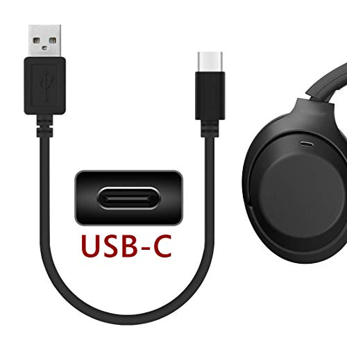 Geekria Cable de Carga pour Sony WH-1000XM3 WH-XB900N WH-CH510, AKG Y400, Y600NC, Bose NCH700, USB-C Charging Cable, Momentum 3, B&W PX PX5 PX7(30CM)