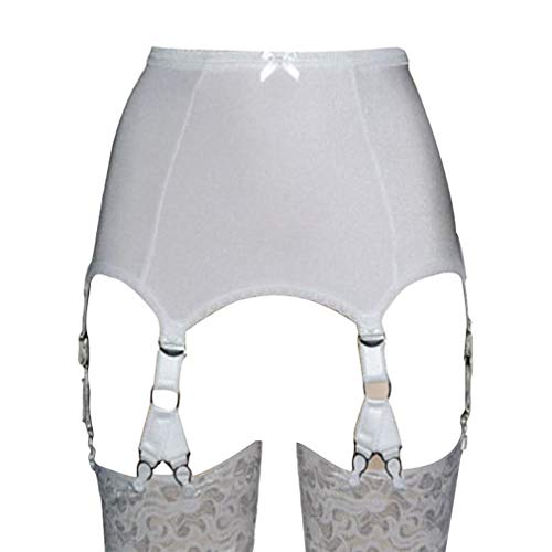 MEIHAOWEI Damen Strapsgürtel mit 6 Strap Strapsgürtel Lace Front Open für Strümpfe Dessous
