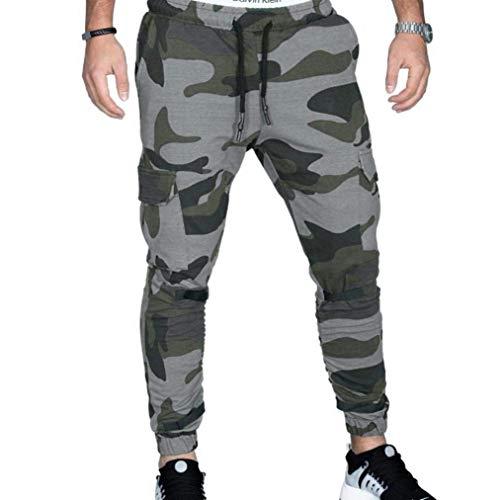 HaiDean Heren Broek Lange Casual Camouflage Zomer Sweatpants Broek Slim Modern Casual Mode Leger Militaire Sport Broek Sweatpants