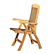 WoodenFoldingGardenChairNatural