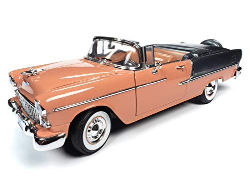 American Muscle 1955 Chevy Bel Air Convertible 1:18 Scale Die-Cast Model Car -  Round 2 LLC, AMM1221/06