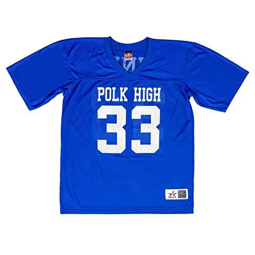 Married with Children Al Bundy Polk High 33 Blue Football Jersey Costume (X-Large)