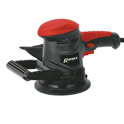 Ribimex PRPO125 Levigatrice Rotorbitale 450W, 230 V, Rosso E Nero