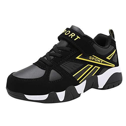 Alwayswin Mode Atmungsaktive Outdoor-Sportschuhe für große Kinder Jungen Bequeme rutschfeste Laufschuhe Leichte Klettverschluss Sneaker Weicher Boden Turnschuhe Kinderschuhe